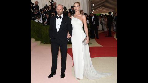 Jason Statham, left, and Rosie Huntington-Whiteley