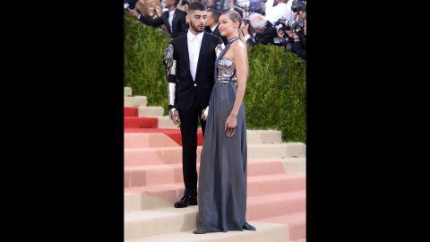 Zayn Malik, left, and Gigi Hadid