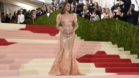 """Beyonce attends the """"Manus x Machina: Fashion In An Age Of Technology"""" Costume Institute Gala at the Metropolitan Museum of Art on Monday, May 2, in New York."""