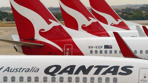 Qantas was operating the flight from Newman to Perth on Friday.