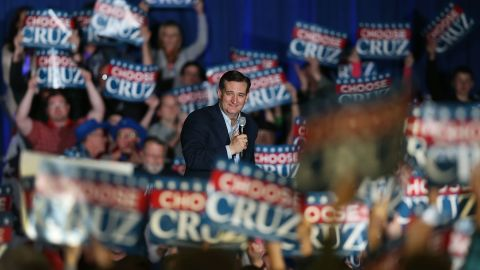 Republican presidential candidate Sen. Ted Cruz speaks during a campaign rally at the Indiana State Fairgrounds on May 2, 2016 in Indianapolis.