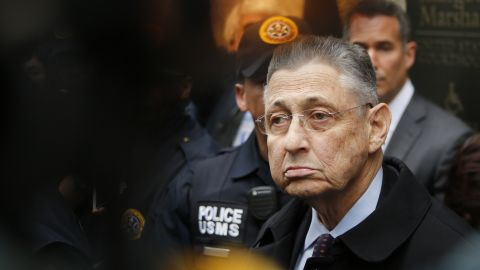 Former New York Assembly Speaker Sheldon Silver exits federal court in Lower Manhattan on May 3 in New York City.