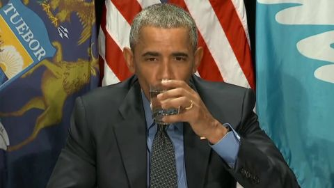 obama drinks flint water lead pipes replaced sot _00000614.jpg