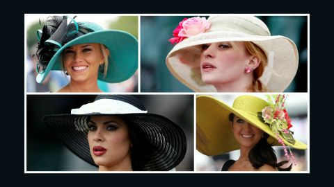 Feminine, wide-brimmed hats with a floral or feather adornment were popular in the 2010s.