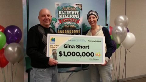 Len and Gina Short won $1 million three months ago.