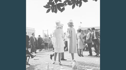 """In the 1960s, hemlines were on the rise. Meanwhile, on the other side of the globe at Australia's Melbourne Cup, model Jean Shrimpton was causing a stir in a miniskirt that <a href=""""http://edition.cnn.com/2012/11/01/sport/jean-shrimpton-melbourne-cup-fashion/"""">""""stopped the nation."""" </a><br />""""By the time you get to the 1960s wearing hats was no longer typical,"""" said Goodlet.<br />""""But the Derby keeps this tradition -- even when other social occasions don't."""" <br />"""