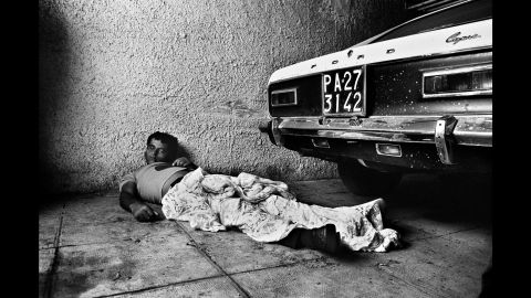 Battaglia vividly remembers taking this photo in Palermo in 1975. She arrived at the scene when the man was still moving, and he was dead a short time later.