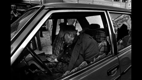 """Judge Cesare Terranova, a member of the Anti-Mafia Parliamentary Commission, was killed in an ambush in 1979. Battaglia had to photograph many famous judges and anti-Mafia prosecutors while their bodies were still at the crime scene. """"This was one of the most important men in Sicilian politics,"""" she said. """"When he was killed, I said nothing worse could happen. Nothing. It was not true."""""""