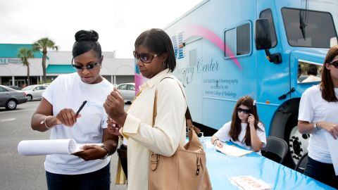 Andrea Ivory, left, and her nonprofit provide community wellness and screening events to women in three Florida counties.