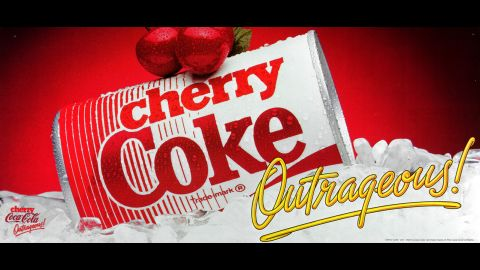 """<strong>1985:</strong> Cherry Coke puts a contemporary spin on a homespun beverage many Americans enjoyed as a kid, when """"soda jerks"""" at the local drugstore would add a splash of cherry syrup to fountain Coca-Cola."""