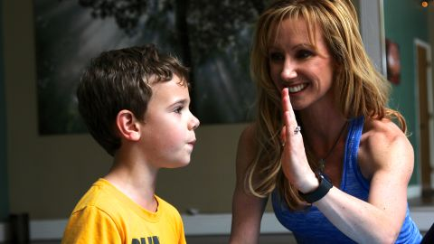 """Santas developed """"peace palm exhaling"""" to help kids prone to panic attacks or tantrums."""