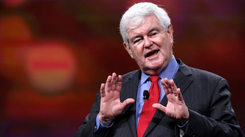 Former U.S. House speaker Newt Gingrich delivers remarks at the Visit Orlando annual luncheon in December 2015.