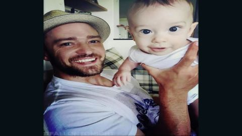 Timberlake shares a photo of his son, Silas, who Biel gave birth to in April 2015.