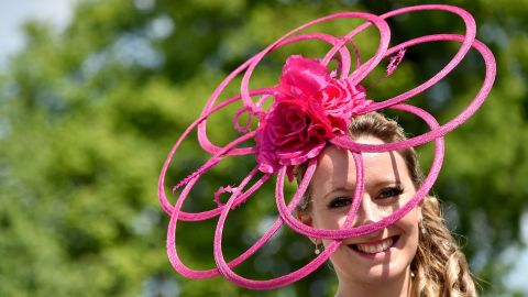 LOUISVILLE, KY - MAY 07:  Derby attendee poses during the 142nd Kentucky Derby at Churchill Downs on May 07, 2016 in Louisville, Kentucky.  (Photo by Mike Coppola/Getty Images for Churchill Downs)