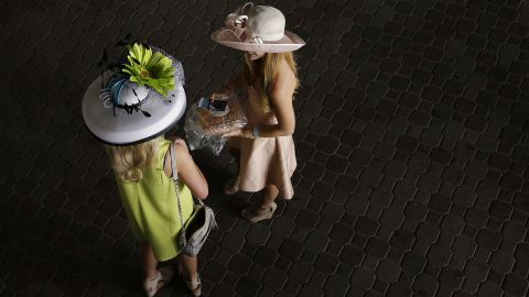 While these two were at the Derby, many hat makers were at parties around the country, vying for prizes for creativity.