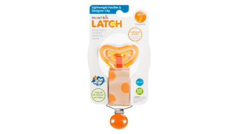 The pacifiers were sold in five styles: designer, rattle and heartbeat clips with 0-months-plus natural shaped pacifiers and designer and rattle clips with 6-months-plus orthodontic pacifiers.