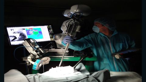 This is the Smart Tissue Autonomous Robots, known as STAR, in action.