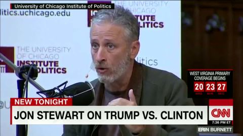 """Jon Stewart during the taping of the """"Axe Files"""" in Chicago"""