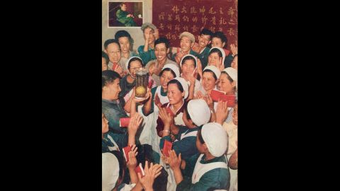 """Mao's golden mangoes: The mango became an unlikely object of worship during the turmoil of the <a href=""""http://cnn.com/2016/05/12/asia/china-cultural-revolution-dikotter/index.html"""">Cultural Revolution</a>, which began 50 years ago this month.  The exotic fruit adorned propaganda posters and everyday objects."""