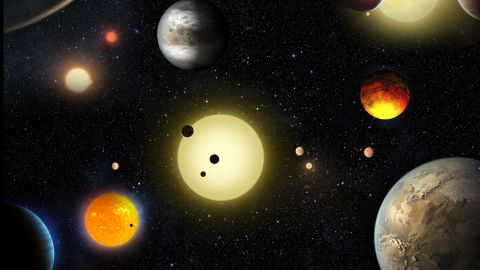 The Kepler mission has discovered 1,284 new planets. Of these newly discovered planets, nine orbit in the habitable zone of their star and nearly 550 are possibly rocky planets roughly around the same size as Earth.