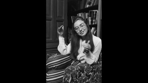 Before marrying Bill Clinton, she was Hillary Rodham. Here she attends Wellesley College in Massachusetts. Her commencement speech at Wellesley's graduation ceremony in 1969 attracted national attention. After graduating, she attended Yale Law School.