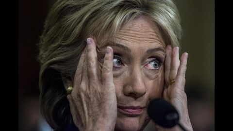 """Clinton testifies about the Benghazi attack during a House committee meeting in October 2015. """"I would imagine I have thought more about what happened than all of you put together,"""" she said during the 11-hour hearing. """"I have lost more sleep than all of you put together. I have been wracking my brain about what more could have been done or should have been done."""" Months earlier, Clinton had acknowledged a """"systemic breakdown"""" as cited by an Accountability Review Board, and she said that her department was taking additional steps to increase security at U.S. diplomatic facilities."""