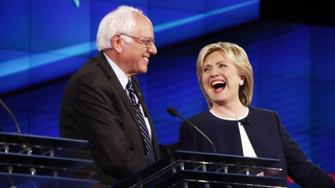 """IN CNN IMAGESIn the first Democratic debate, presidential candidate Bernie Sanders says people are sick of hearing about Hillary Clinton's """"damn emails."""""""