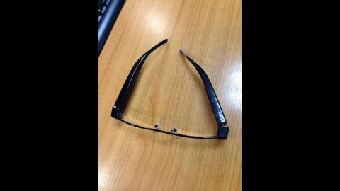 A camera was hidden in a pair of glasses, deputy dean says.