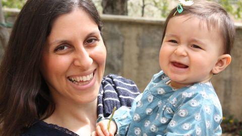 Nazanin Zaghari-Ratcliffe and daughter Gabriella.