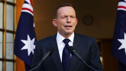 """<strong>Tony Abbott:</strong> One of Australia's most controversial leaders in recent history, Abbott <a href=""""http://www.cnn.com/2015/09/14/asia/australia-tony-abbott-leadership-challenge/"""" target=""""_blank"""">was toppled in a leadership challenge</a> just two years into his role. After his final speech, Abbott ended his term with a tweet: """"Thank you for the privilege of being Prime Minister. My love for this country is as strong as ever."""""""