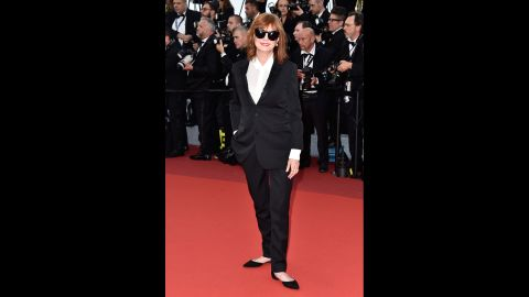 """Susan Sarandon attends the """"Cafe Society"""" premiere and the Opening Night Gala during the 69th annual Cannes Film Festival on May 11 in Cannes, France."""