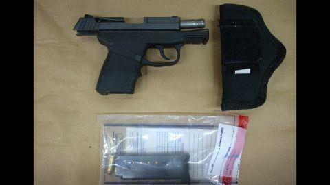 The gun George Zimmerman used to kill Trayvon Martin on February 26, 2012, in Sanford, Florida.