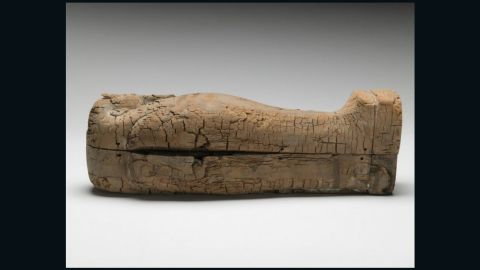 The  immaculate wooden coffin, which holds the youngest discovered Egyptian mummy, dates to around 664-525 BC.