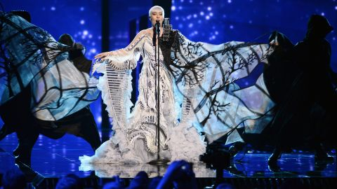 Eurovision has always been a stage for outlandish costume design. Here, Croatia's Nina Kraljic rehearses during the jury show May 9, 2016, in Stockholm, Sweden. Check out standout costumes from this year's song contest and previous competitions: