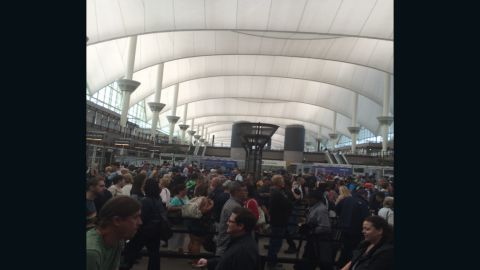 John Ronshausen said it took him about 35 minutes to clear security Friday at Denver International Airport.