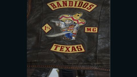 """The """"Texas bottom rocker"""" patch, which may have set off the feud."""
