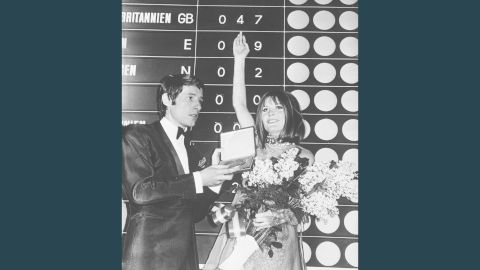 """British singer Sandie Shaw wins Eurovision in 1967 with her song """"Puppet on a String."""""""