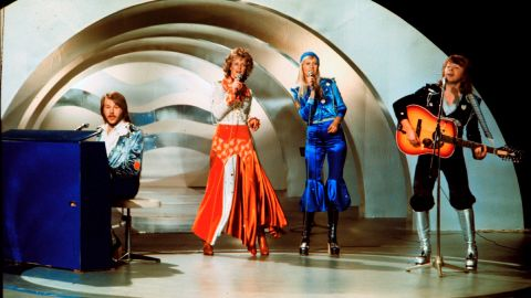"""Sweden's Abba won Eurovision 1974 with their worldwide hit """"Waterloo."""""""