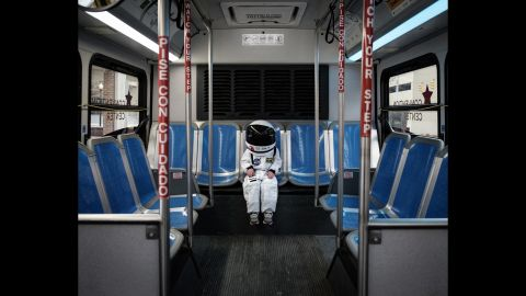 """Harrison takes public transportation. His dad said the project started soon after they rode the bus together. """"I'm just sitting there looking at him,"""" Sheldon said, """"and he's in just in awe of such a mundane and pedestrian task."""""""