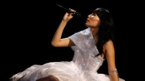 Dami Im of Australia finished second after getting high marks from the professional judges.