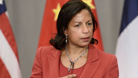 US National Security Advisor Susan Rice arrives to take part in a P5+1 meeting during the Nuclear Security Summit at the Walter E. Washington Convention Center on April 1, 2016 in Washington, DC. / AFP / STEPHANE DE SAKUTIN        (Photo credit should read STEPHANE DE SAKUTIN/AFP/Getty Images)