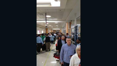 The TSA PreCheck was 45 minutes long on Monday at Atlanta's Hartsfield-Jackson International Airport, one traveler says.