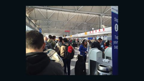 Deborah Cross was in the security line for 85 minutes on Monday at Chicago's O'Hare International Airport.