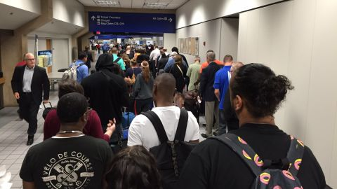 This is what Dave Rogers saw when he arrived at DFW airport at 4:15 a.m. on Monday.