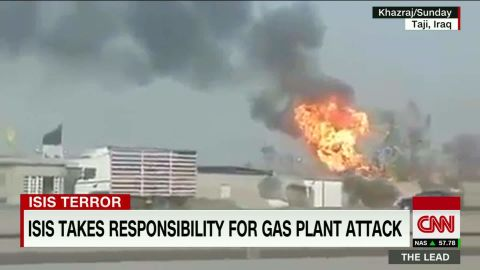 isis suicide bombers iraqi gas plant attack arwa damon the lead _00001522.jpg