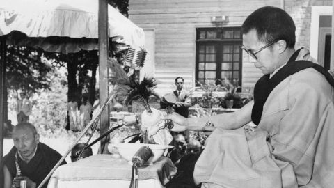 The Dalai Lama celebrates the birthday of the Lord Buddha for the first time since his arrival in India in exile in May 1959.