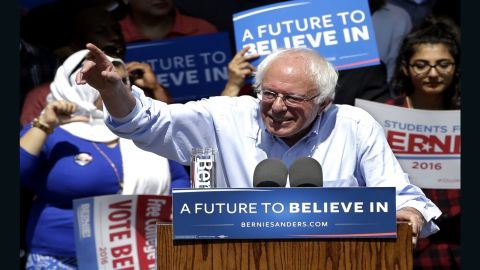 Democratic presidential candidate, Sen. Bernie Sanders, I-Vt., speaks at a campaign rally, Tuesday, May 10, 2016, in Stockton, Calif. (AP Photo/Rich Pedroncelli)