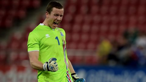 Goalkeeper Thor Hannes Halldorsson played behind a defence which conceded just six goals in 10 qualifying matches.