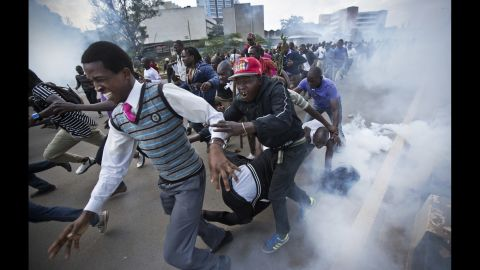 """""""It's one thing for such violence to occur in actively ongoing clashes, but another when that level of violence is meted out on people running away or lying on the ground -- as was the case with the man beaten and kicked repeatedly by a riot policeman while collapsed in the street,"""" Curtis said."""