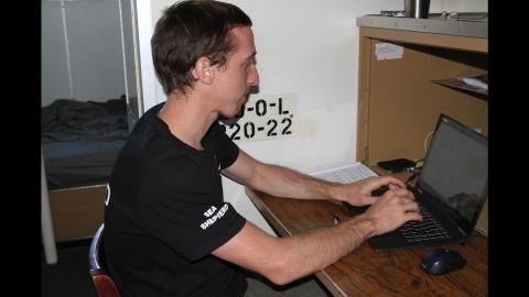 Dan Villa aboard the Sea Shepherd.